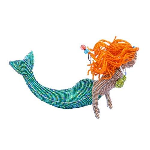 Beadworx Grass (Grass Roots Creations Head Mermaid Beadworx Sculpture, Red)