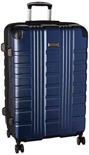 Kenneth Cole Reaction Scott's Corner Hardside Expandable 8-Wheel Spinner TSA Lock Travel Suitcase, Navy, 28-inch Checked