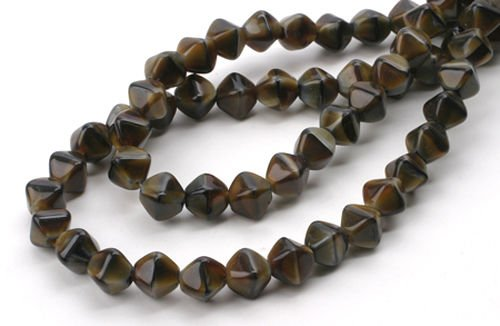(50 Caramel Cream Dia Bicone Czech Glass Beads 6MM)