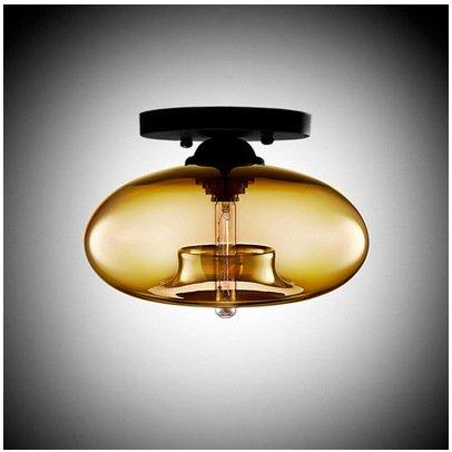 Modern LED Pendant Flush Mount Ceiling Fixtures Light Glass Ceiling Light Italy Art Glass Creative Ceiling Light Ventilation Lighting Kitchen \u0026 Bathroom Lighting, Smoke - Flush Glass Art Mount