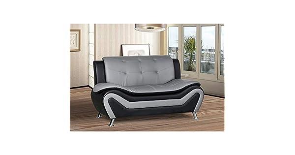 Amazon.com: Kingway Furniture Gilan - Sofá de salón (piel ...