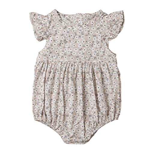 - Cute Butterfly Sleeve Newborn Baby Girls Lovely Floral Tutu Jumpsuit Bodysuit Summer Clothes Outfits B26 12M