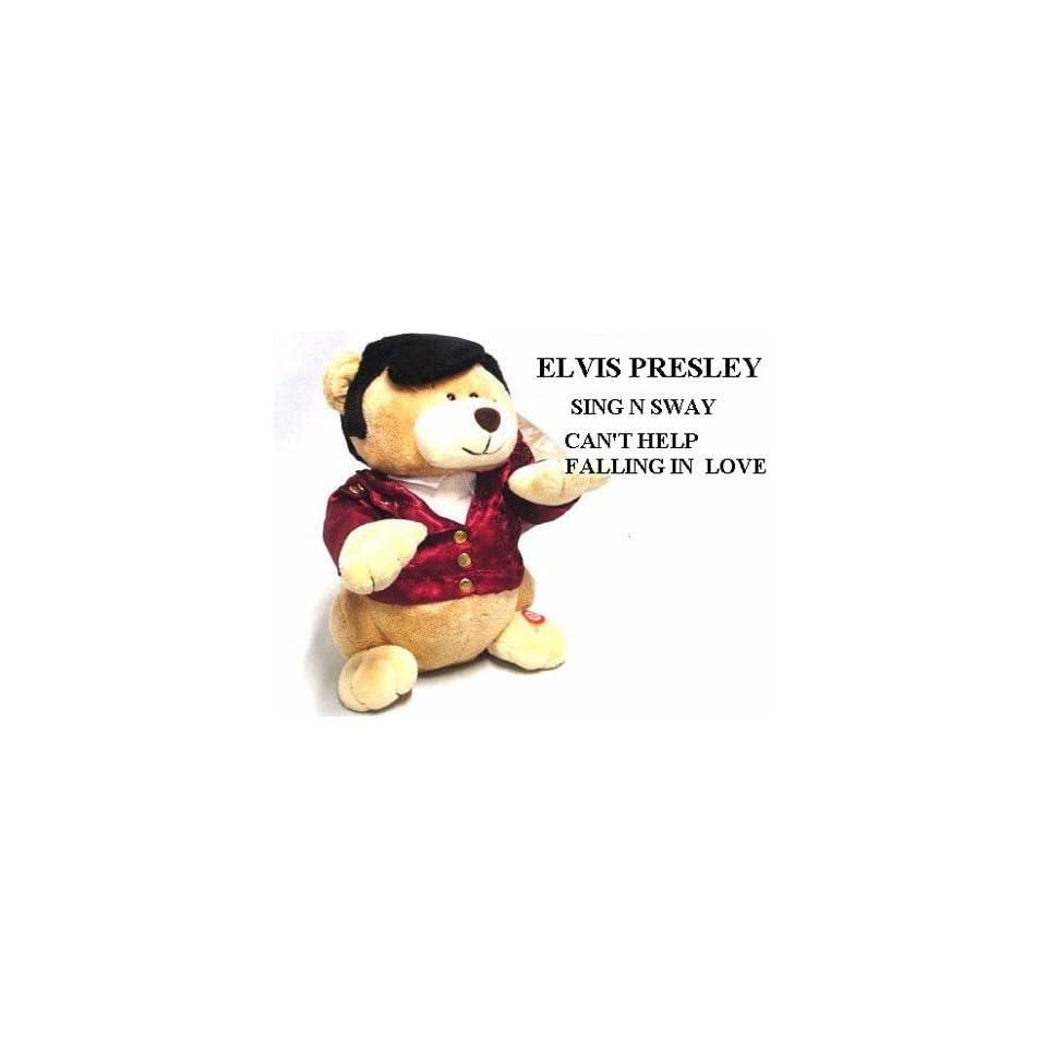 Elvis Singing Red Jacket Teddy Bear Toys & Games