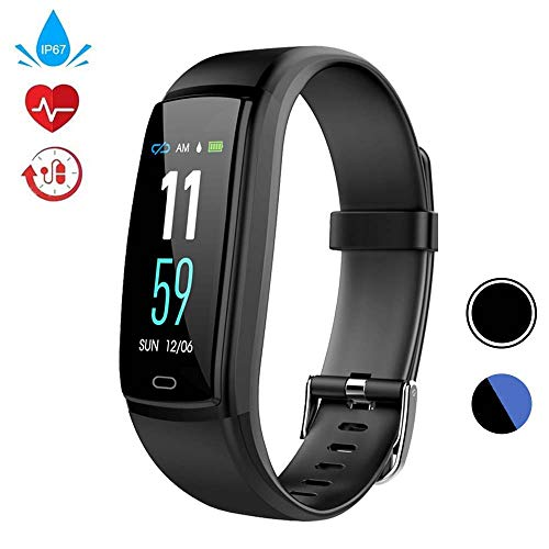 WELTEAYO Fitness Tracker, Activity Tracker Watch with Heart Rate Monitor, Activity Tracker with Color Screen, Smart Bracelet with Sleep Monitor, IP67 Waterproof Smart Bracelet (Y9-Black)