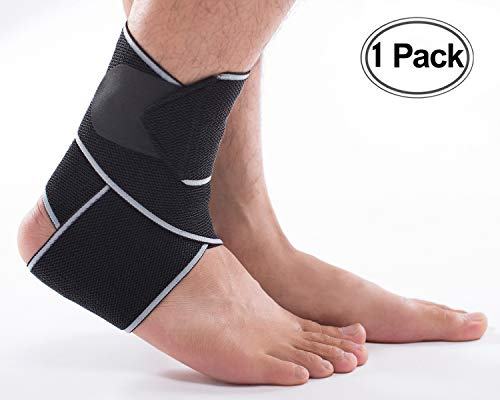 LOKEP Ankle Brace Breathable Ankle Support Adjustable Ankle Stabilizer with Compression Wrap Support, Suitable for Men & Women, Sports -One Size Fits All