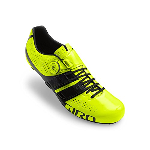 Yellow Road Factor Homme De Vélo Techlace Giro black Highlight Route Chaussures z7W6BxFn