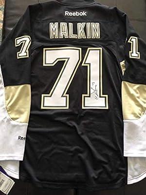 Signed Evgeni Malkin Jersey - Reebok w COA Black - Autographed NHL Jerseys cf105385c