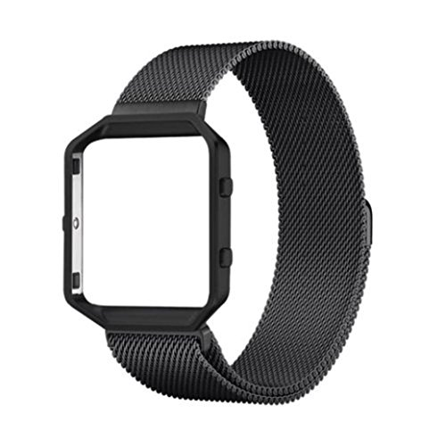 YRD Tech for Fitbit Blaze Milanese Magnetic Stainless Steel Wrist Watch Band Strap Bracelet Frame (E) by YRD TECH