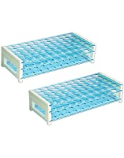 ULAB Scientific Detachable Test Tube Rack for Tubes of Dia.≤17mm, 50 Holes, PS Material, Pack of 2, UTR1006