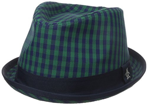 Original Penguin Men's Mini Check Porkpie, Kelly Green, (Original Penguin Check)