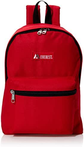 Everest Luggage Basic Backpack, Red, Medium