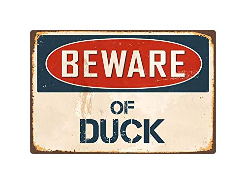 Beware of Duck Metal Tin Sign Home Decor Wall Art Room Sign