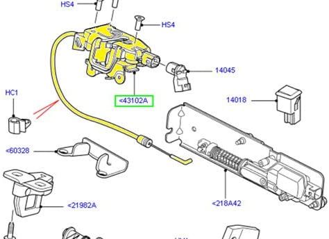 Land Rover LATCH TAILGATE REAR END DOOR UPPER LR3 LR4 NEW LR017470