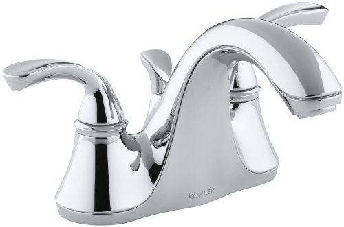 Forte Centerset Bathroom Sink Faucet with Sculpted Lever Han
