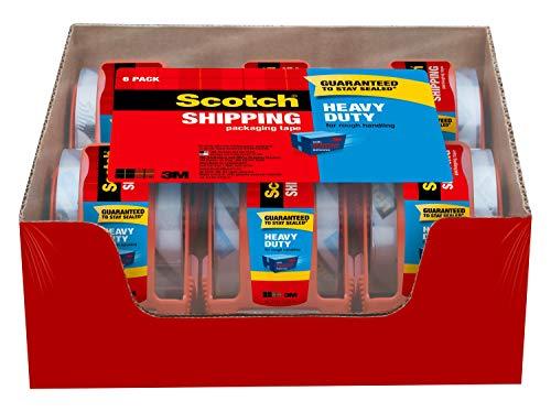 Scotch Heavy Duty Shipping Packaging Tape, 6