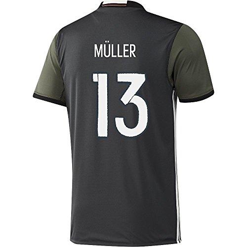 わかる延期するスキッパーAdidas MULLER #13 Germany Away Soccer Jersey Euro 2016(Authentic name and number of player)/サッカーユニフォーム ドイツ アウェイ用 ミュラー 背番号13 Euro 2016
