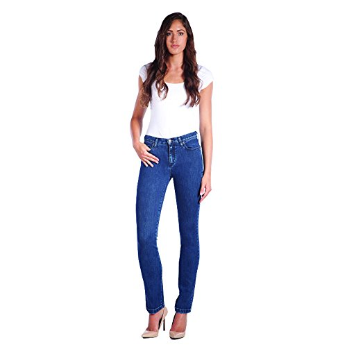 Second Yoga Jeans Women's High Rise Straight Victoria Jeans (25)