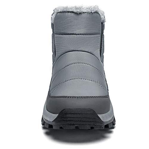 Santiro Men Insulated Waterproof Snow Boot Winter Warm Fur Lined Outdoor Shoes