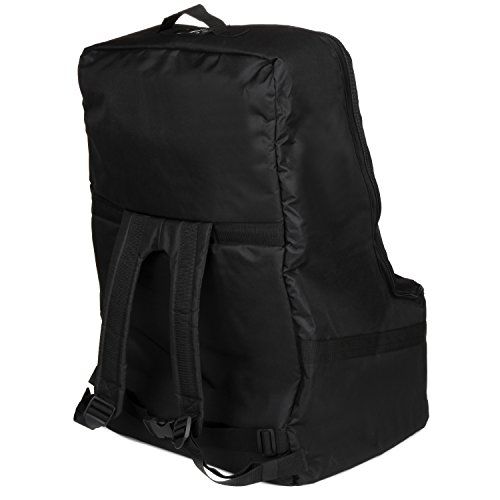 Full Size Car Seat Travel Bag - Black Carseat Carrier and Car Seat Bag for Airplane by Hope and Kisses (Image #2)