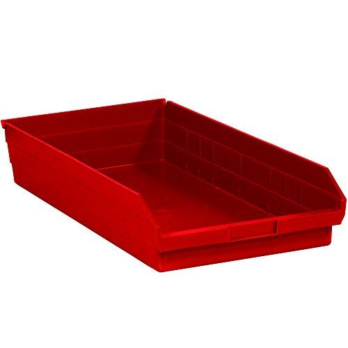 Ship Now Supply SNBINPS124R Plastic Shelf Bin Boxes, 4