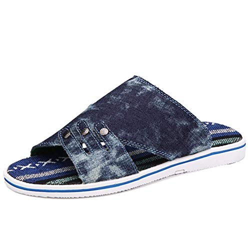 Verano Azul Zapatillas Casual 39 Lienzo Verde Blue Tamaño color Star Yingsssq Washed Plana Talón Unisex Goma I8wBE4xn