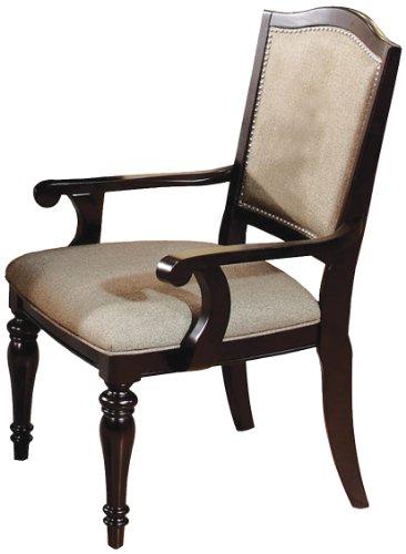 Formal Dining Chairs - Furniture of America Glentelle Formal Arm Chair, Dark Walnut Finish, Set of 2