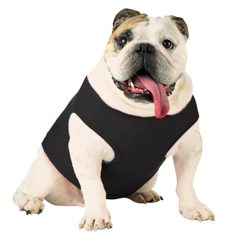 Doggie Skins 3902 Baby Pet Rib Tank, Black, Large