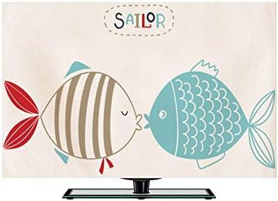 WSWJJXB Conjuntos Simples Cubierta De Polvo Cubierta De Polvo Paño De Dibujos Animados De Televisión Nórdica (Color : A, Size : 55
