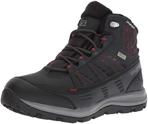 - Salomon Women's Kaïna CS Waterproof 2 Snow Boot, phantom/black/beet red, 7 B US