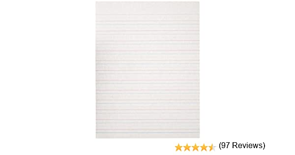 Amazon.com: School Specialty Handwriting Paper - 1/2 Rule, 1/4 ...