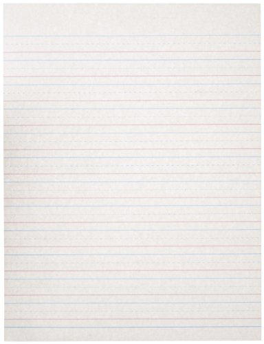 Amazon.com: School Specialty Handwriting Paper   1/2 Rule, 1/4 Dotted, 1/4  Skip   8 X 10 1/2 Inch   500 Sheets: Industrial U0026 Scientific  Lined Paper With Drawing Box