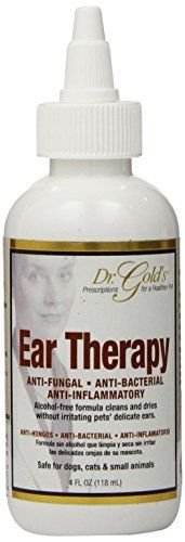Pet Ear Therapy Dr. Gold's 4 fl. oz. for Antifungal Antibacterial (Dr Gold Ear Therapy)
