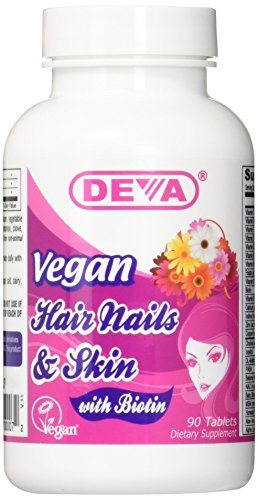 Deva Vegan Vitamins Hair Nails & Skin Tablet, 90 -