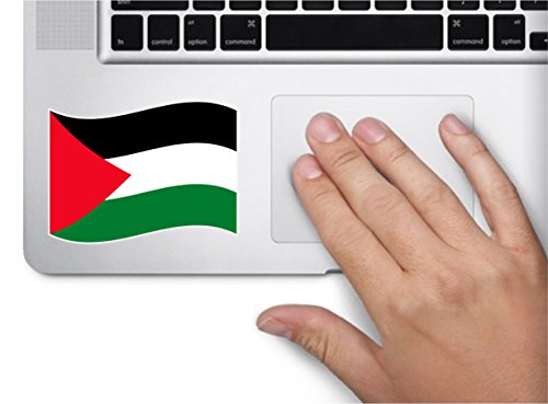 Waving flag palestinian territory 4x2.5 country symbol love humor america united states color sticker state decal vinyl - Made and Shipped in USA