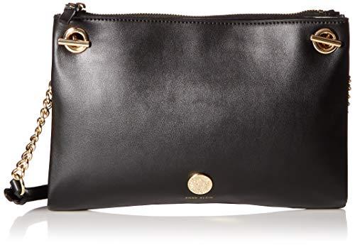 Anne Klein Chain Toggle Folio Crossbody Bag, black