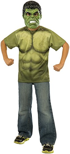 Rubie's Costume Avengers 2 Age of Ultron Child's Hulk T-Shirt and Mask, Medium
