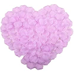 Vivianbuy 1000 PCS Artificial Silk Flower Lilac Rose Petals for Wedding Party Bridal Decoration