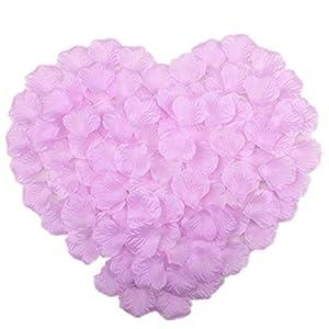 Vivianbuy 1000 PCS Artificial Silk Flower Lilac Rose Petals for Wedding Party Bridal Decoration 55