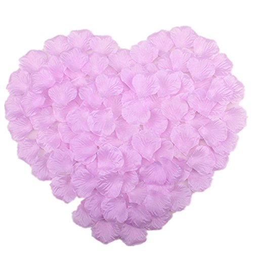 - Vivianbuy 1000 PCS Artificial Silk Flower Lilac Rose Petals for Wedding Party Bridal Decoration