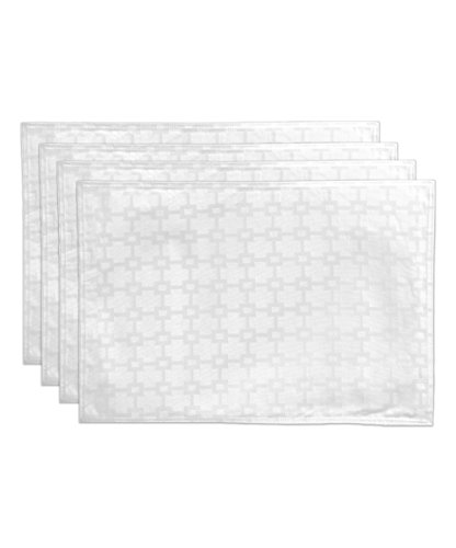 HomeCrate Elegant Chandler Collection Spill Proof Microfiber Placemats, 13