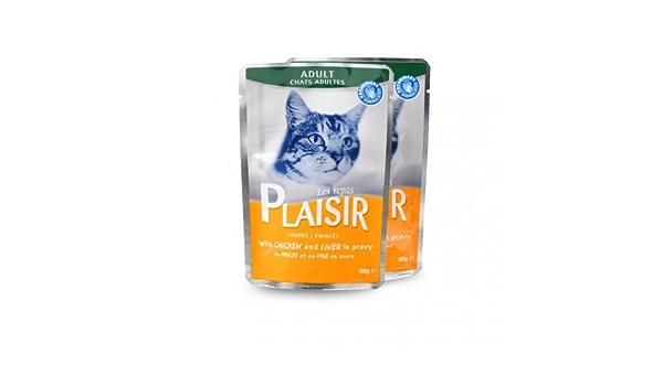 Emincés AU pollo y del hígado – Repas Plaisir para gato ...