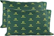 College Covers Oregon Ducks Pillowcase Pair - Solid (Includes 2 Standard Pillowcases)