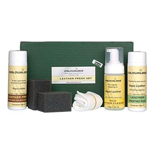Kit - COLOURLOCK Leather Fresh Dye Kit with Mild Cleaner – Aston Martin Olive Green by Colourlock