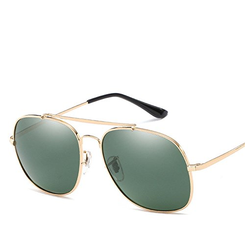 ac61e4711bf34f Chahua Lunettes de soleil brillant verres personnalisés rétro hommes métal  miroir, lunettes de conduite B