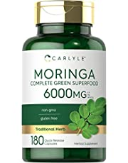 Moringa Oleifera 6000 mg   180 Capsules   Non-GMO and Gluten Free Supplement   from Moringa Leaf Powder   by Carlyle