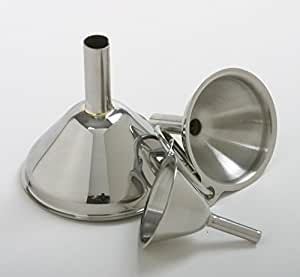 Norpro 252 18/10 Stainless Steel Funnel 3 pc Set NEW