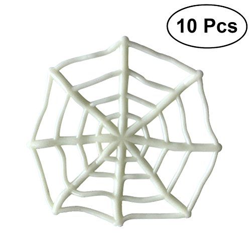 10pcs Spider Web Toy Sticky White Cobweb Halloween Haunted House Supplies Home Decor Props Tricky -