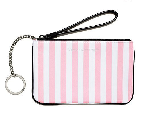 Victoria's Secret Signature Stripe Coin Purse Wallet (Wallet Victoria Secret)
