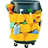 Rubbermaid Janitorial Caddy Bag Double 32 Gal Yellow
