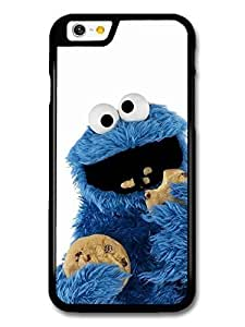 AMAF ? Accessories Cookie Monster Muppet Eating Biscuits with White Background case for iPhone 6